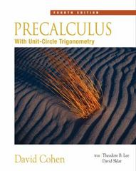 Precalculus 4th Edition 9780534402303 0534402305
