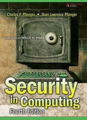 Security in Computing 4th Edition 9780132390774 0132390779