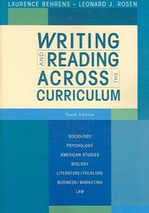 Writing and Reading Across the Curriculum 10th edition 9780321486431 0321486439
