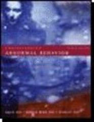 Understanding Abnormal Behavior 8th edition 9780618528288 0618528288