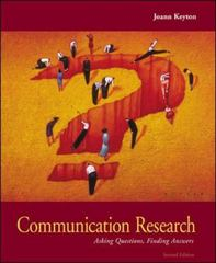 Communication Research 2nd Edition 9780073049502 0073049506