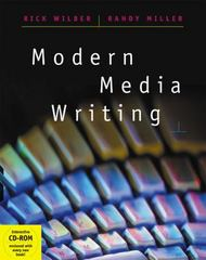 Modern Media Writing (with CD-ROM and InfoTrac) 1st Edition 9780534520472 0534520472