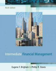 Intermediate Financial Management (with Thomson One) 9th edition 9780324319866 032431986X