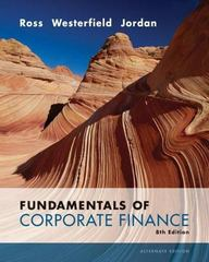 Fundamentals of Corporate Finance 8th edition 9780073282114 0073282111