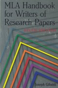 Mla Handbook for Writers of Research Papers 6th Edition 9780873529860 0873529863