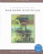 Introduction to Business Statistics (with CD-ROM) 5th edition 9780534465216 0534465218
