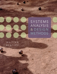 Systems Analysis and Design Methods 7th Edition 9780073052335 0073052337