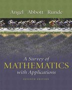 A Survey of Mathematics with Applications 7th edition 9780321112507 0321112504
