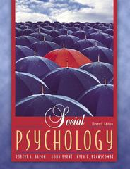 Social Psychology 11th Edition 9780205444120 0205444121