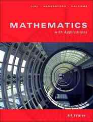 Mathematics with Applications 9th edition 9780321334336 0321334337