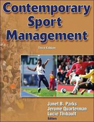 Contemporary Sport Management 3rd Edition 9780736063654 073606365X