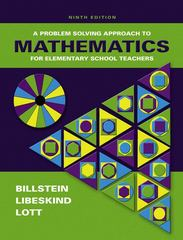 A Problem Solving Approach to Mathematics for Elementary School Teachers 9th edition 9780321331793 0321331796