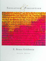 Sensation and Perception 7th Edition 9780534558109 0534558100