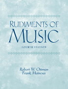 Rudiments of Music 4th edition 9780131826557 0131826557