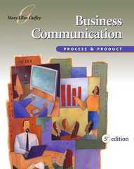 Business Communication 5th edition 9780324223040 0324223048