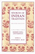 Sources of Indian Tradition 2nd Edition 9780231064156 0231064152