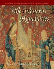 The Western Humanities, Volume 1 6th edition 9780073136370 0073136379