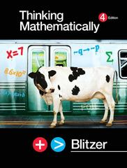 Thinking Mathematically 4th edition 9780131752047 0131752049