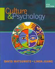 Culture and Psychology 4th edition 9780495097877 049509787X