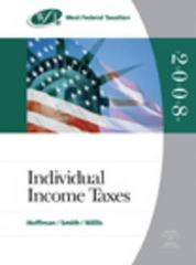 West Federal Taxation 2008 31st edition 9780324380583 0324380585