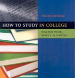 How to Study in College 9th edition 9780618766451 0618766456