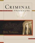 Criminal Procedure (with CD-ROM and InfoTrac) 6th edition 9780534629281 0534629288