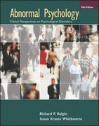 Abnormal Psychology 5th edition 9780073228723 0073228729