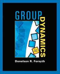 Group Dynamics 4th edition 9780534368227 0534368220