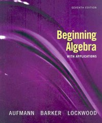 Beginning Algebra with Applications 7th edition 9780618803590 0618803599