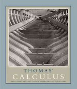 Thomas' Calculus including Second-order Differential Equations 1st edition 9780321490698 032149069X