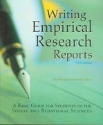 Writing Empirical Research Reports-5th Ed 5th Edition 9781884585586 1884585582