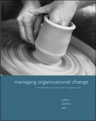 Managing Organizational Change 1st Edition 9780072496802 0072496800