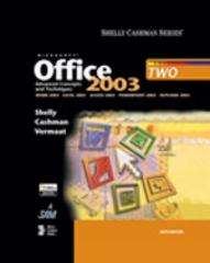 Microsoft Office 2003: Advanced Concepts and Techniques 1st edition 9780619200251 0619200251