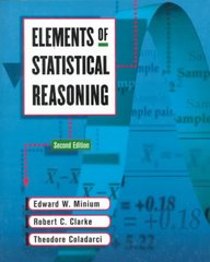 Elements of Statistical Reasoning 2nd edition 9780471192770 0471192775