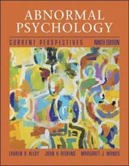 Abnormal Psychology 9th Edition 9780072422986 007242298X