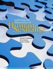 Exploring The Dimensions Of Human Sexuality 3rd edition 9780763745202 0763745200
