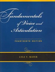 Fundamentals of Voice and Articulation with CD-ROM 14th edition 9780073342986 007334298X
