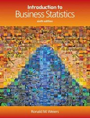 Introduction to Business Statistics (with Student CD-ROM) 6th edition 9780324381436 0324381433