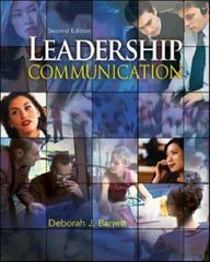 Leadership Communication 2nd edition 9780073403144 0073403148