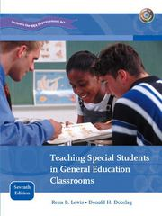 Teaching Special Students in General Education Classrooms 7th edition 9780131486355 0131486357