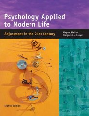 Psychology Applied to Modern Life 8th edition 9780534608590 0534608590