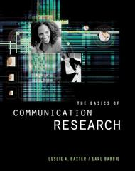 The Basics of Communication Research 1st Edition 9781285400808 1285400801