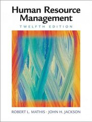 Human Resource Management 12th edition 9780324542752 0324542755