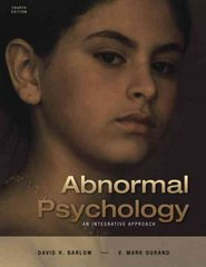 Abnormal Psychology 4th edition 9780534633622 0534633625