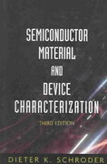 Semiconductor Material and Device Characterization 3rd edition 9780471739067 0471739065