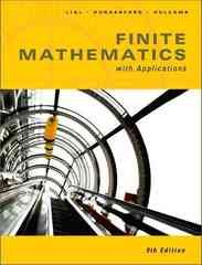 Finite Math with Applications 9th edition 9780321386724 0321386728
