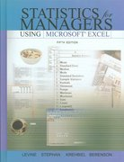 Statistics for Managers Using Excel and Student CD Package 5th edition 9780136149903 0136149901