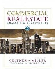 Commercial Real Estate Analysis and Investments (with CD-ROM) 2nd Edition 9780324305487 0324305486