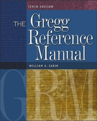 The Gregg Reference Manual with One-Year Online Subscription 10th edition 9780072936537 0072936533