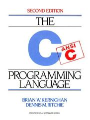 C Programming Language 2nd Edition 9780131103627 0131103628